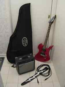 BC Rich Electric Guitar With Amp/Cord/Strap