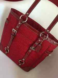 Authentic Red Coach Bag
