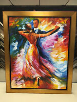 """WALTZ"" Done with a Palette knife in Oil on Canvas"