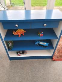 Upcycled boys bookcase/ storage unit