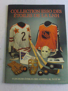 ALBUM COMPLET DE COLLECTION ESSO ETOILES DE LA LNH 1988