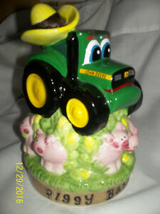 john deere official tractor with hat piggy bank