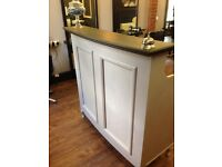 French style salon reception desk.