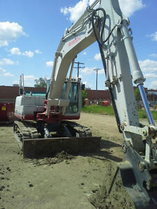 CD Construction. Track hoe services.