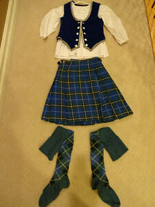 Scottish dancing outfit - kilt, vest, shirt and socks (hose)