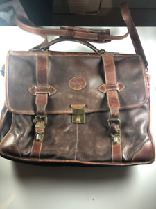 Vintage Roots Leather Messenger Bag
