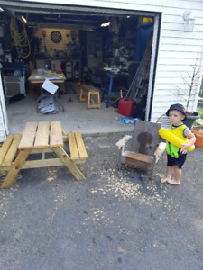 kids outdoor picnic table or chair