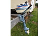 Evinrude 4hp 2 stroke outboard engine