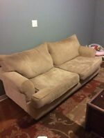 Beige sofa and chairs