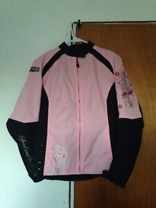 PINK & BLACK Women's motorcycle jacket**Like New** Kawartha Lakes Peterborough Area image 2