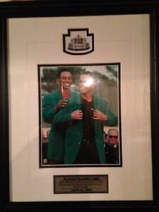 Mike Weir and Tiger Woods Framed Masters photo