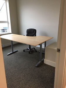 One office desk and one round desk for sale in excellent conditi
