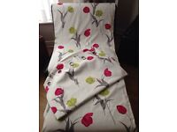 "Next bright floral shabby chic lined curtains 66"" X 90"""