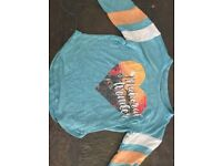 Blue top kids size 10-11