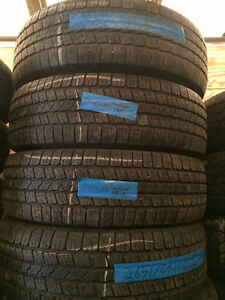 4 USED GOODYEAR WRANGLER TIRES P265/70R17