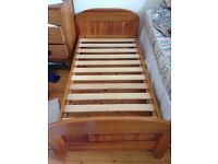 Solid oak toddler first bed - lovely - John Lewis