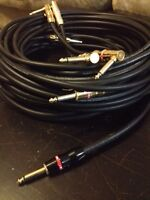 """Monster pro audio instrument cables (21' x 3 and 8"""" x 2)"""