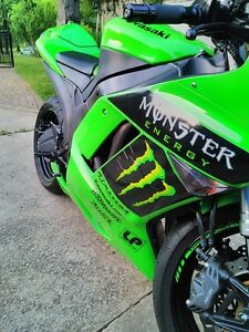 2007 KAWASAKI ZX6R TWO BROTHERS EXHAUST MONSTER ENERGY Windsor Region Ontario image 6