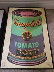 Campbell's soup prints in frames $60  Kitchener / Waterloo Kitchener Area image 2