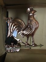 Polish Copper Rooster Weathervane