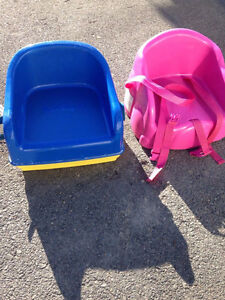 Safety first blue & pink booster seat- $20 each or $30 for both