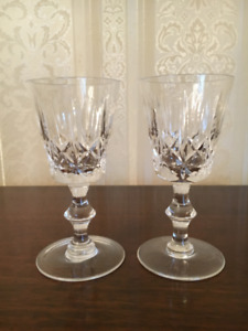 Crystal Cross and Olive liqueur glasses