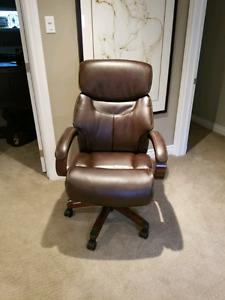 La-z-boy leather espresso ofdice chair