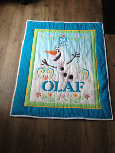 Brand New Olaf Hand Quilted Baby Quilt