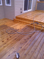 WOW video-- pressure washing your deck-- special from $99.*