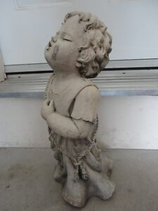 TIC COLLECTION CHERUB TALKING TO GOD GARDEN STATUE London Ontario image 3