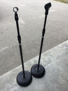 Yorkville Sound Round Based Mic Microphone Stands X 2
