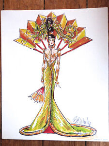 Bob Mackie BARBIE Fantasy Goddess of the Asia with Sketch #20648 Peterborough Peterborough Area image 6