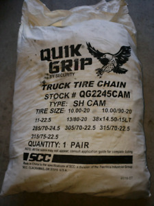 Tire chains for semi