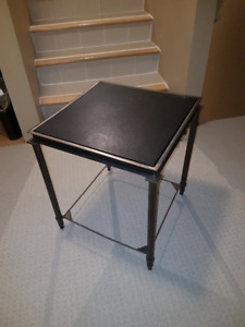 SOLD - Metal & Leather End Table