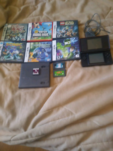 Nintendo DS Lite with games and charger