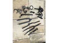Bike parts - road forks - mountain forks - bars - cranks - stem - seatpost etc