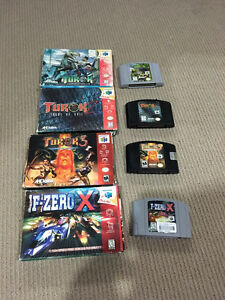 Nintendo 64 games with boxes