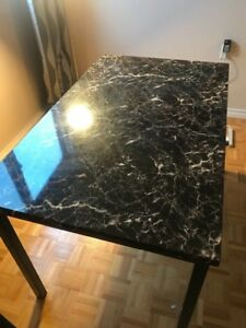 Faux Marble Dining Set + Free Painting ($350)