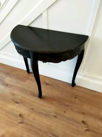 Small black console table