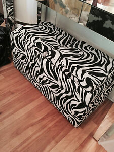 Zebra print boot / storage bench