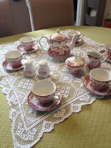 CHURCHILL The Brook Pink Tea Service/reduced