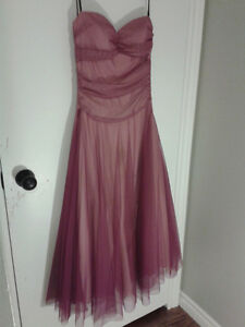 BEAUTIFUL PINK/PURPLE STRAPLESS CRINOLINE DRESS