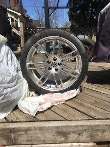 Tires and rims used one summer