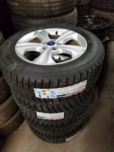 Brand new 225 60 17 winters on Ford Escape alloys 5x108 / TPMS