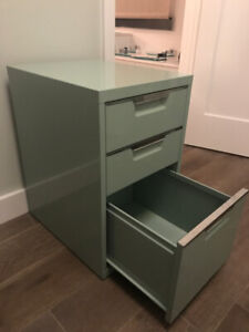 SOLD !      2 Mint Green  Filing Cabinets- 2 for  $ 100