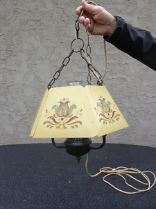 Vintage swag patio light.  Reduced