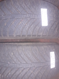 225 45 17 part worn tyres matching pair kumho winter used tires