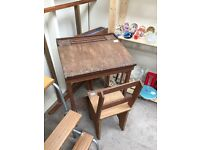 Children's Desk and chair - salt and pepper