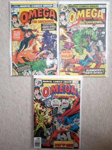 Omega the Unknown Comic #1-3 1976-77