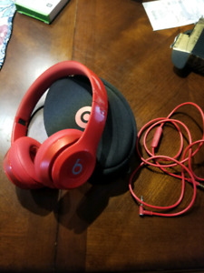 Red beats headphones!